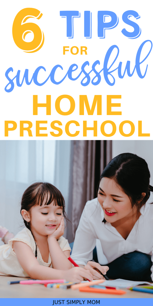 Here are some simple ways to turn your home into a preschool learning environment for a young child or toddler during homeschool and distance learniing.