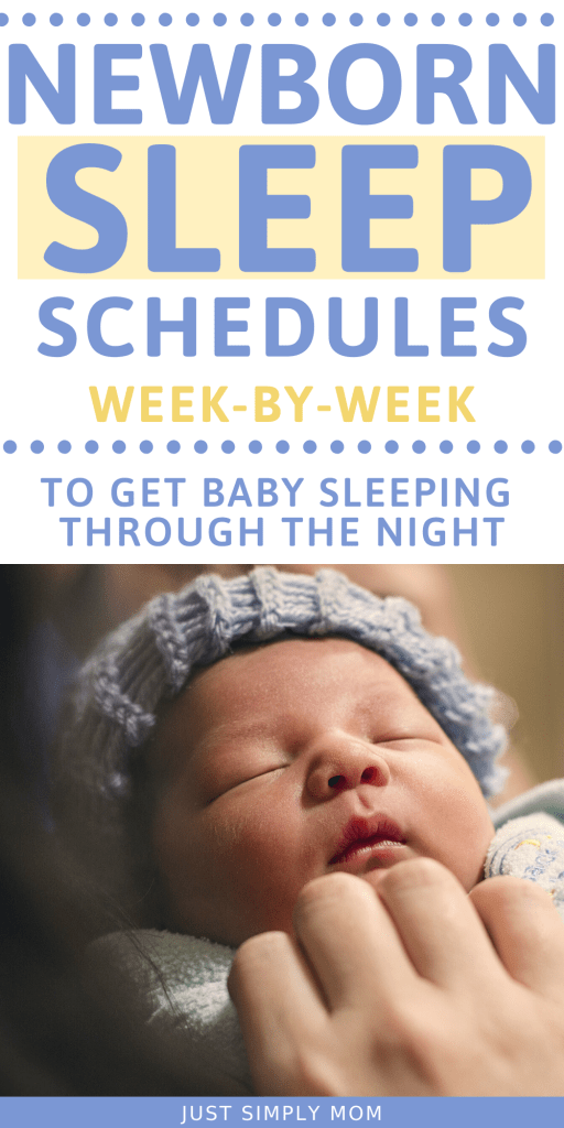 Use these sample newborn schedule for your 1-12 week old baby to get them on a consistent sleep routine during the first 3 months of life.
