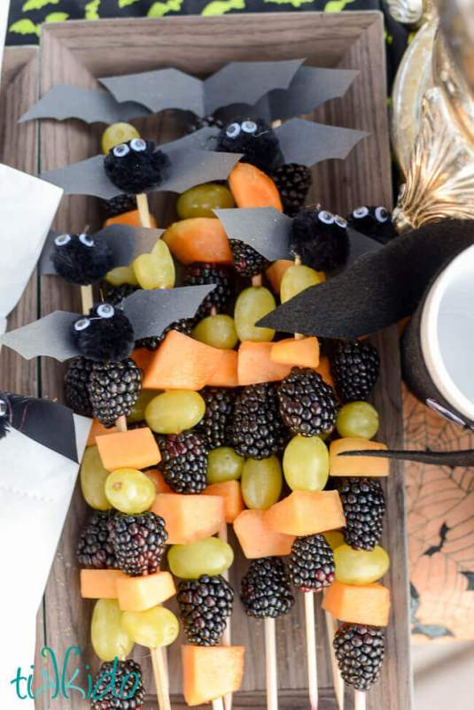 healthy halloween treat with fruit