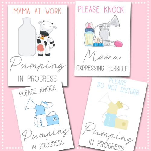 If you're a breastfeeding mama going back to work, you may find these free printable pumping signs for work super helpful for privacy pumping