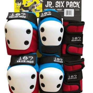 This is a photo of the junior skate pad set by 187 Killer Pads.