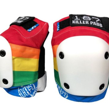 This is a picture of Rainbow Colored 187 Killer Pads