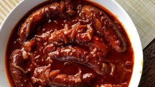 Slow Cooker Devilled Sausages