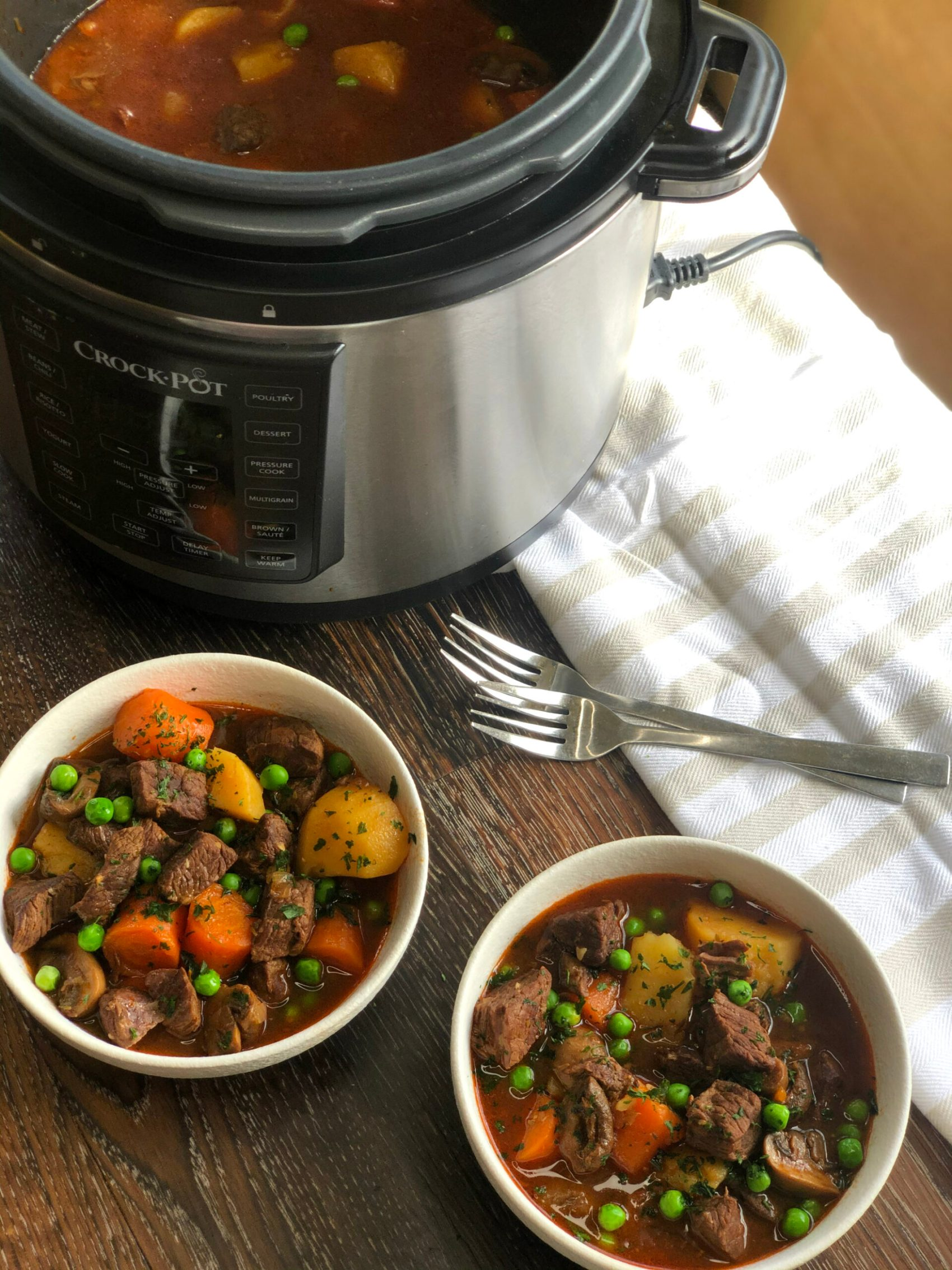 Slow Cooker Beef Stew cooked in a CrockPot