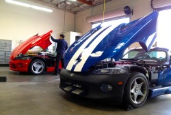 Smog inspecting a couple of Dodge Vipers