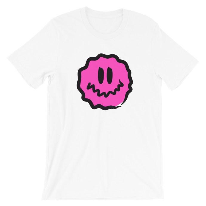 pink antsyface short-sleeve unisex t-shirt