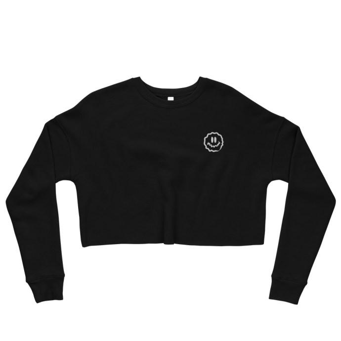 antsy face crop sweatshirt