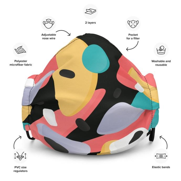 artsy face mask-description