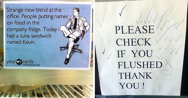 24 Of The Most Hilarious PassiveAggressive Office Notes Ever