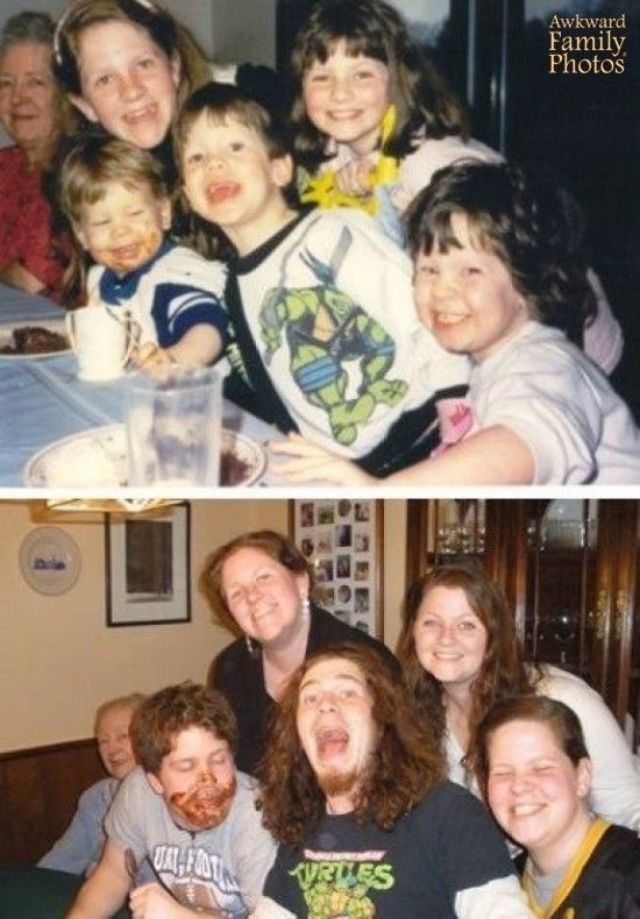 15 People Who Recreated Their Family Photos From The Past
