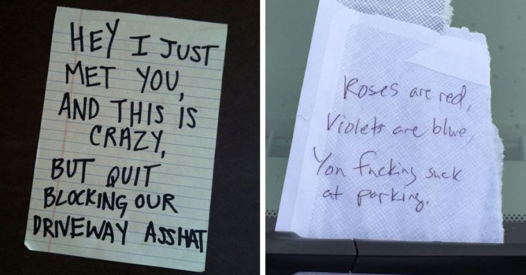 22 Hilarious Passive Aggressive Notes Left To Bad Parkers