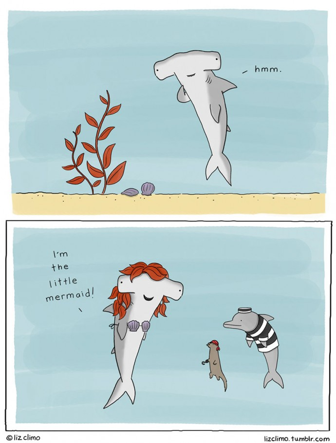 Cute Dolphin Drawing Wallpaper 32 Funny Animal Halloween Comics By Liz Climo