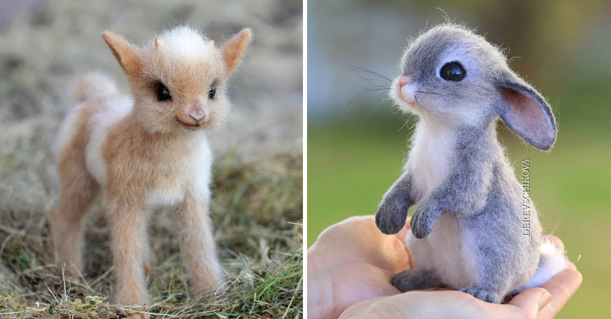 Russian Artist Creates Tiny Realistic Looking Felted Wool Animals And These Are Her Cutest Creations