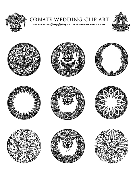 ornate wedding clip art and printables