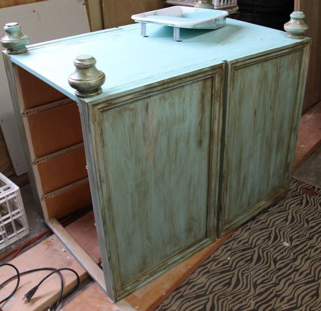 Repurposing Old Kitchen Cabinets Just Spiff It!
