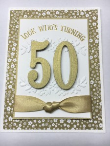 Stampin Up Number of Years 50th birthday card idea - Jeanie Stark StampinUp