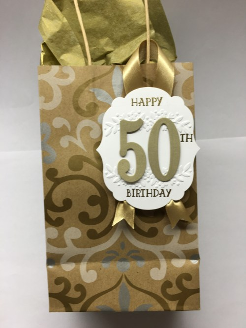 Stampin Up Number of Years Gift Tag Idea - Jeanie Stark StampinUp