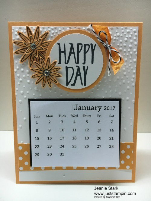 Stampin Up In Color desk calendars using Perfectly Wrapped stamp set and Blossom Bunch Punch - Jeanie Stark StampinUp