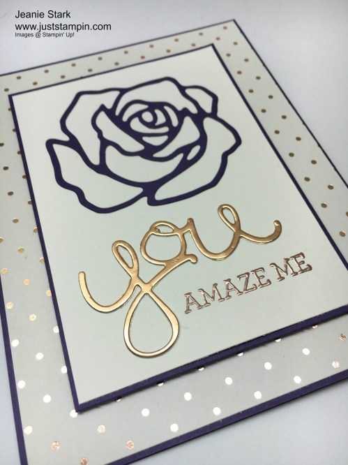 Stampin Up Rose Garden Thinlits card idea - Jeanie Stark StampinUp