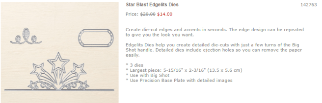Favorites- Star Blast Edgelits Dies