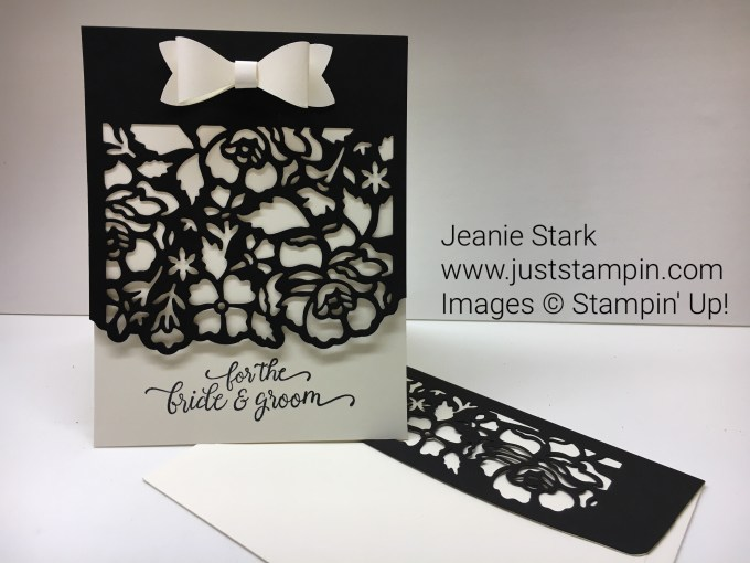 Stampin Up Detailed Floral Thinlits Wedding Card idea - Jeanie Stark StampinUp