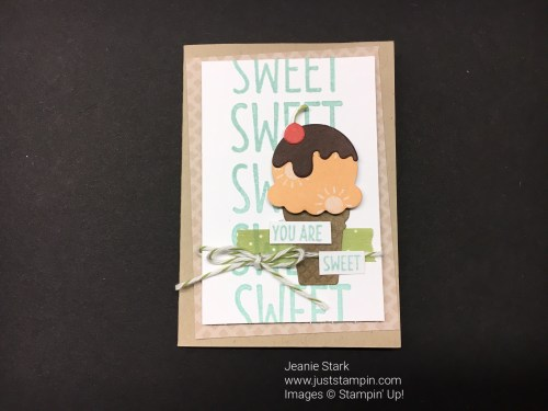Stampin Up Cool Treats card idea - Jeanie Stark StampinUp