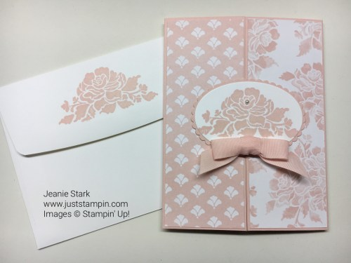 Stampin Up Floral Phrases Fresh Florals Gate Fold baby card idea - Jeanie Stark StampinUp