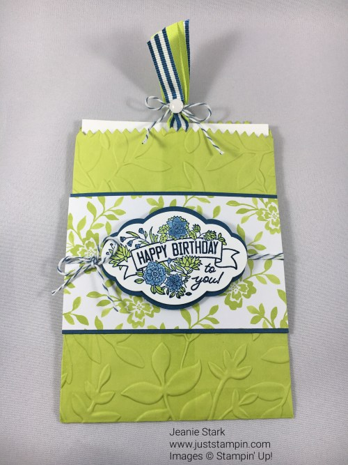 Stampin Up Mini Treat Bag Thinlits Die gift card holder idea - Jeanie Stark StampinUp