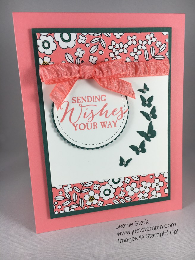 Stampin Up birthday card using Butterfly Basics Stamp Set, Timeless Tags Thinlit Dies, and Stitched Shapes Framelits. For details and more card inspiration visit www.juststampin.com