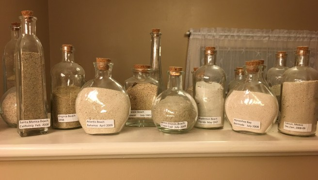 My sand collection from my travels. Visit www.juststampin.com for inspiration and Stampin' Up! supplies.