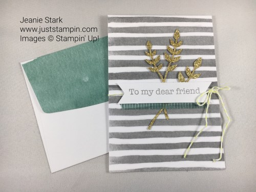 Friend card from Stampin Up Soft Sayings Card kit. For inspiration, classes, and supplies visit www.juststampin.com