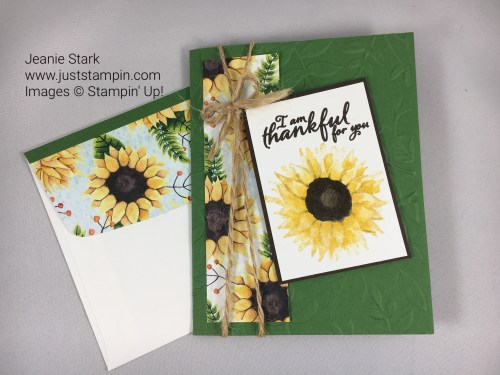 Stampin Up Painted Autumn Thank You card idea - Jeanie Stark StampinUp
