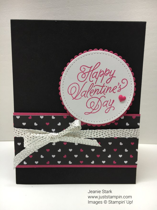 Stampin Up Valentine Day card idea - Jeanie Stark StampinUp