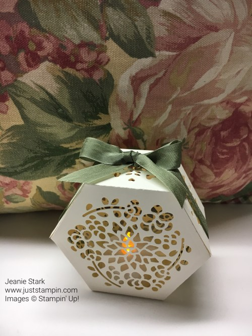 Stampin Up Lighted Window Box Thinlits idea - Jeanie Stark StampinUp