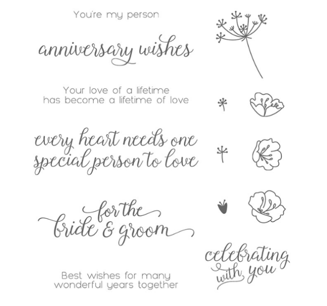 Falling for You stamp set