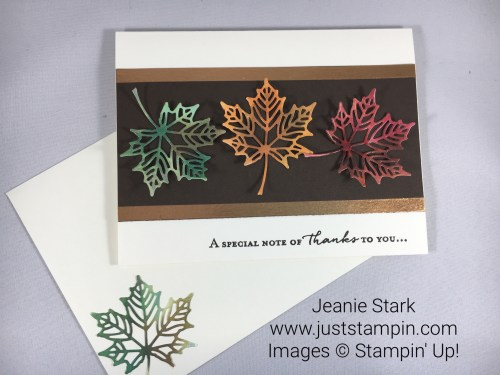 Stampin Up Floral Phrases and Seasonal Layers Fall Thank You Card Idea - Jeanie Stark StampinUp