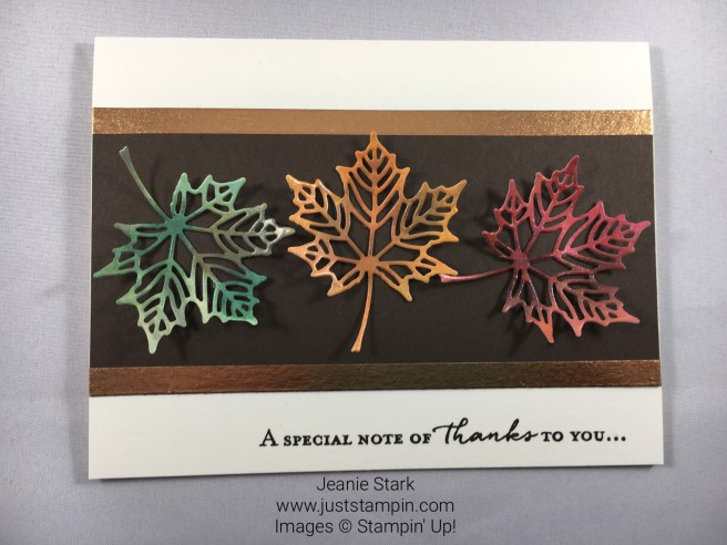 Stampin Up Seasonal Layers Fall Thank You Card Idea - Jeanie Stark StampinUp