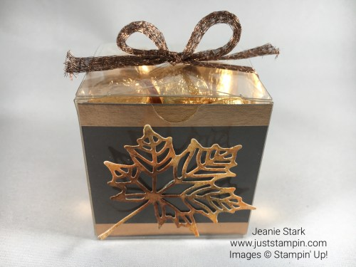 Stampin Up Seasonal Layers Fall Candy Treat Box Idea - Jeanie Stark StampinUp