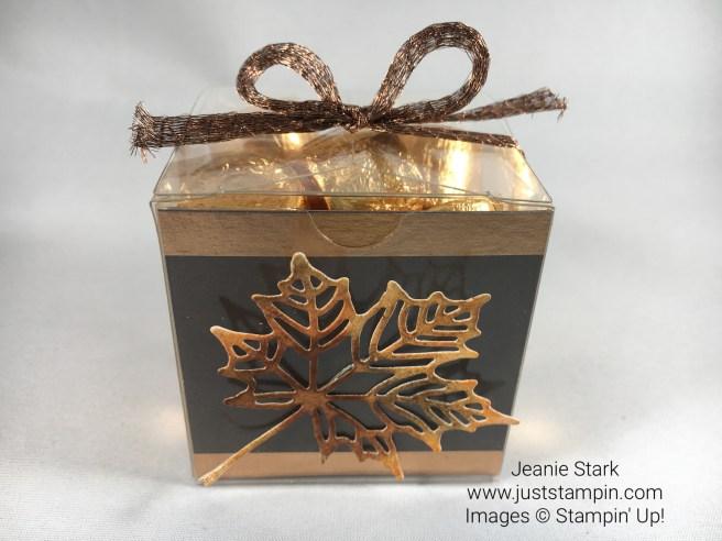 Stampin Up Seasonal Layers Fall Candy Treat Box Idea - Jeanie Stark StampinUp