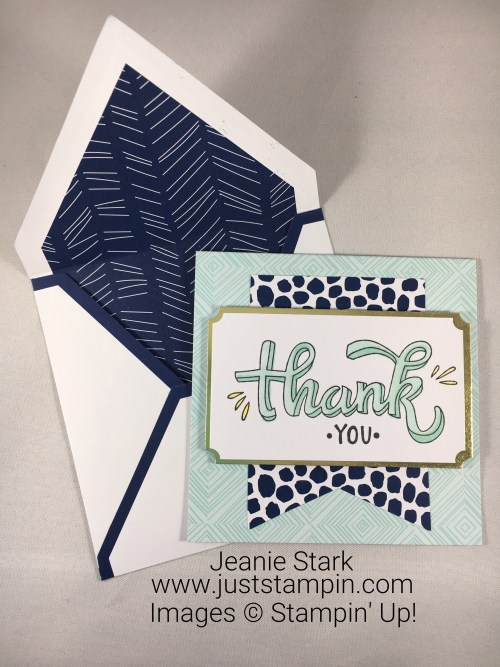 Stampin Up Color Me Happy Thank You card idea - Jeanie Stark StampinUp