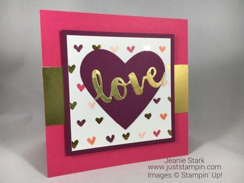 Stampin Up Sweet Soiree Valentine card idea - Jeanie Stark - StampinUp
