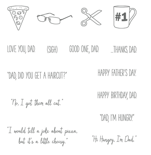 Stampin Up Dad Jokes Stamp set - For ordering and inspiration visit my blog, juststampin.com - Jeanie Stark StampinUp