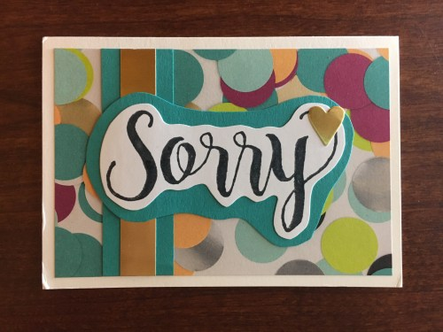 Stampin Up Sorry for Everything card idea - For inspiration, project ideas, and ordering visit www.juststampin.com Jeanie Stark StampinUp