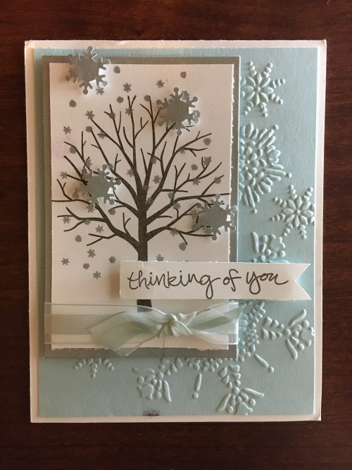 Stampin Up Sheltering Tree card idea - For inspiration, project ideas, and to order StampinUp products visit www.juststampin.com