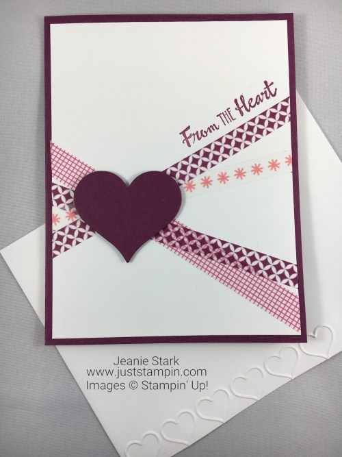 Stampin Up Petal Palette washi tape card idea - Jeanie Stark StampinUp
