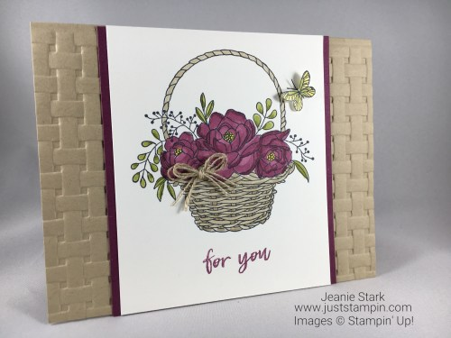Stampin Up Blossoming Basket Bundle All Occasion card idea - Jeanie Stark StampinUp