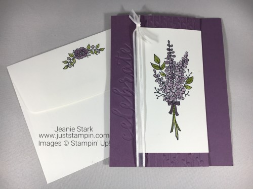 Stampin Up Lots of Lavender fun fold card idea - Jeanie Stark StampinUp