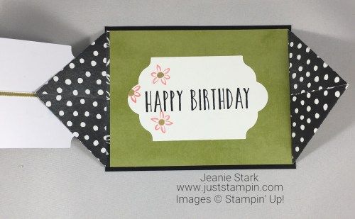 Stampin Up Perennial Birthday Card Kit alternate fun fold birthday card idea - Jeanie Stark StampinUp
