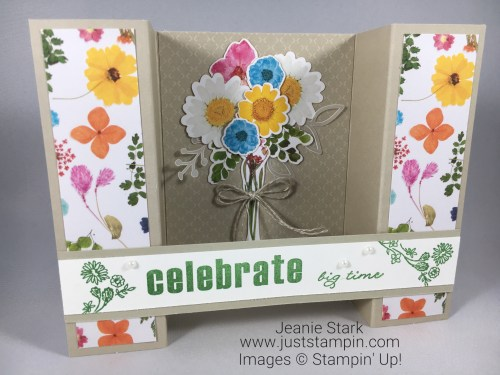Stampin Up Paper Pumpkin Wildflower Wishes fun fold alternate celebrate card idea - Jeanie Stark StampinUp