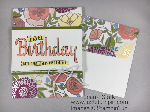 Stampin Up Birthday Wishes For you card idea using Sweet Soiree Specialty Designer Series Paper - Jeanie Stark StampinUp